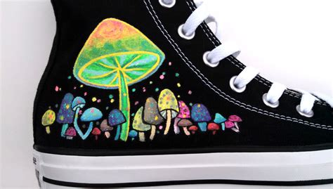 glow in the paint on shoes glow in the painted shoes custom converse by ceil on