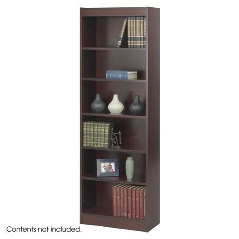 6 inch bookcase safco 24 inch wide 6 shelf veneer baby bookcase narrow in mahogany ebay