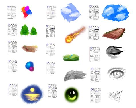 paint tool sai custom brushes brushes settings for paint tool sai by ryky on deviantart