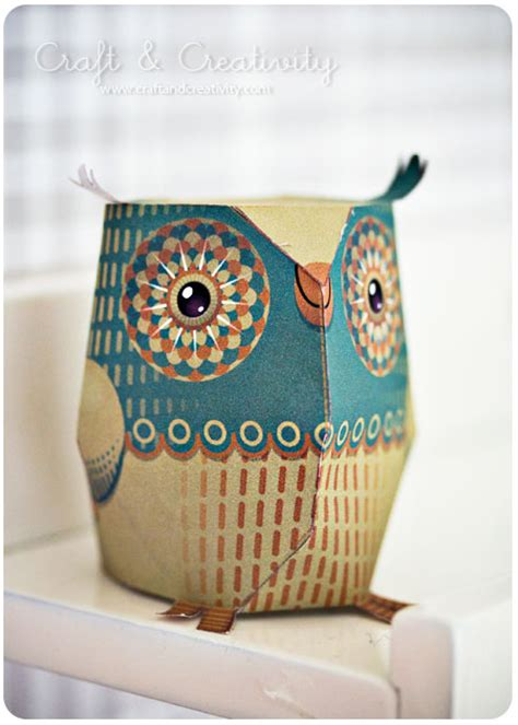 owl paper crafts dagens pyssel pappersuggla craft of the day paper owl