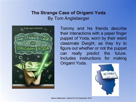 Quiz For The Strange Of Origami Yoda Comot