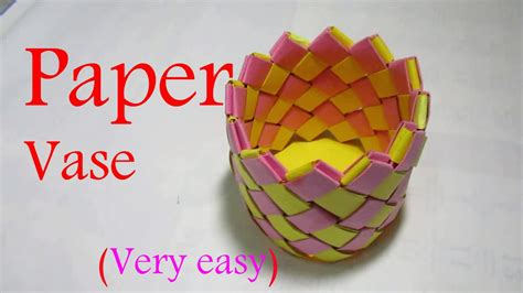 how to do and craft with paper paper vase paper vase step by step