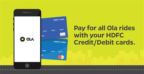 how to make hdfc credit card payment use your hdfc credit debit cards to pay for your ola rides