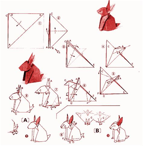 how to make a bunny origami rabbit yoshizawa
