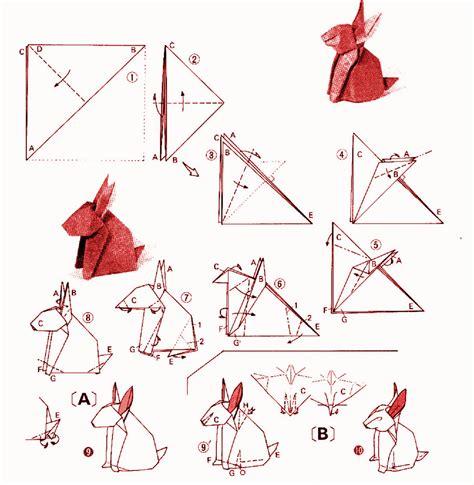 origami diagrams rabbit yoshizawa