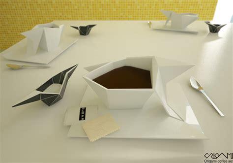 origami coffee origami designboom