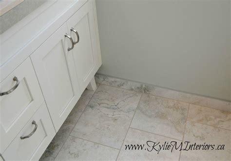 bathroom baseboard ideas tile baseboard in bathroom 12 x 24 porcelain tiles white cabinet benjamin paint gray mist