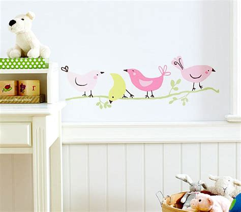nursery decals for walls bird themed nursery wall decals decoist