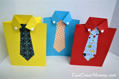 how to make a tie card east coast shirt and tie s day card