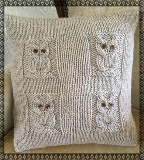 free aran knitting patterns for cushions 4 owls cushion knitting pattern by the lonely sea