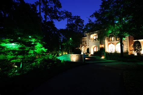 houston landscape lighting design and installation