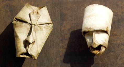 toilet paper roll origami origami toilet paper roll masks by fritz junior jacquet
