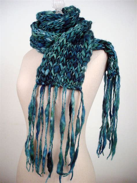 thick and thin yarn knitting patterns totally easy and free handspun scarf knitting pattern