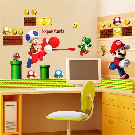mario wall sticker mario wall stickers wall ideas