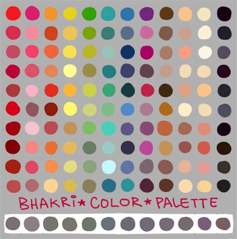 paint tool sai color swatches my color palette by bhakri on deviantart