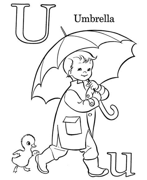 Get This Letter U Coloring Pages Umbrella - u321n U Coloring Page