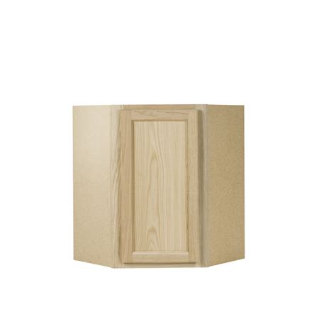 lowes cabinets unfinished shop continental cabinets inc 24 in w x 30 in h x 24 in d unfinished oak corner kitchen wall