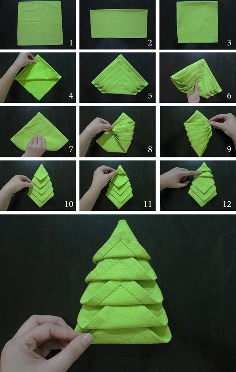 fold tree napkin folding tree marmite et ponpon