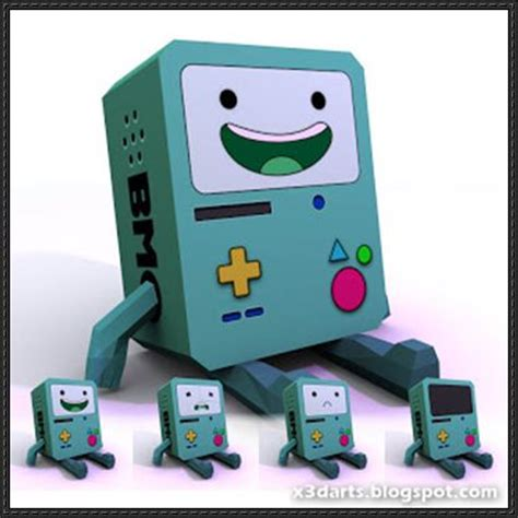 adventure time paper crafts adventure time bmo free papercraft