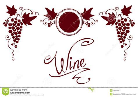 reeks elementen voor een wijnetiket royalty vrije stock