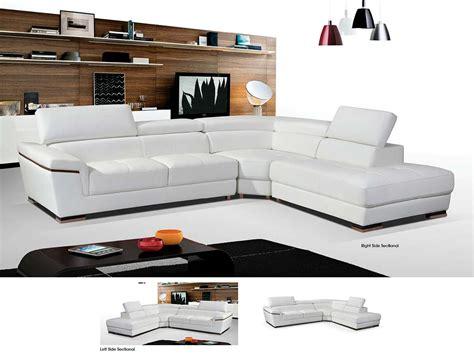 white modern sectional sofa modern white leather sectional sofa ef383 leather sectionals
