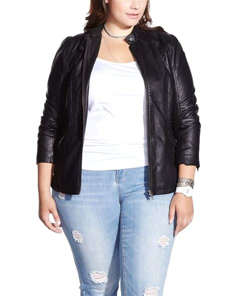 plus size leather jackets for plus size faux leather jacket plus sizes reitmans
