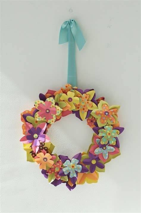 paper wreath craft caitlin wilson easter craft paper flower wreath