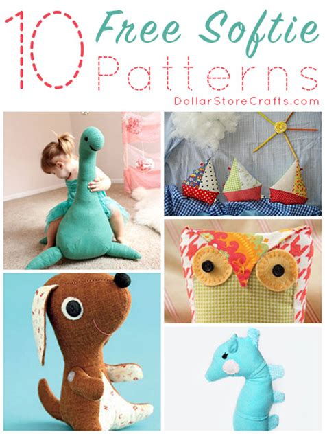 craft sewing patterns 10 free softie sewing patterns dollar store crafts