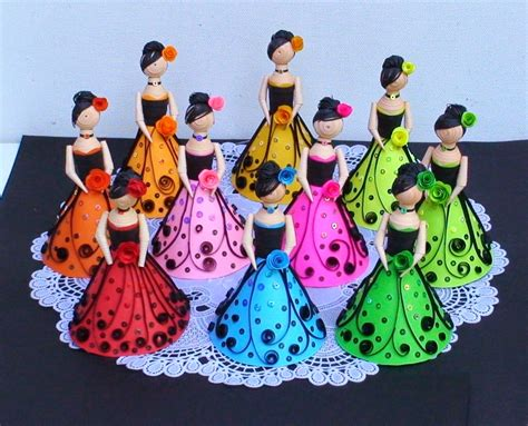 paper doll craft ideas wonderful 3d paper quilling dolls craft gift ideas