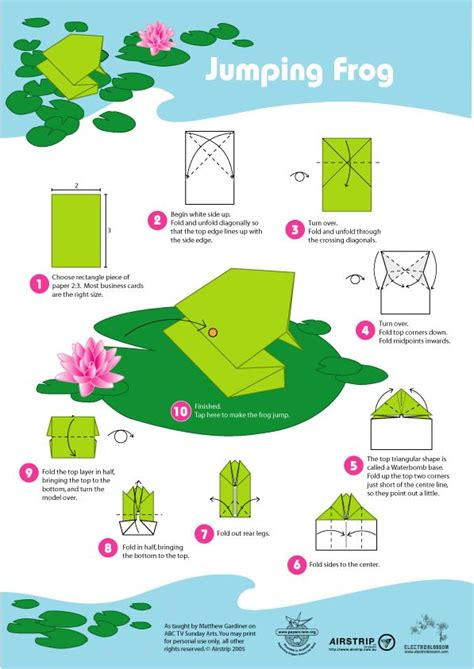 leaping frog origami the world s catalog of ideas