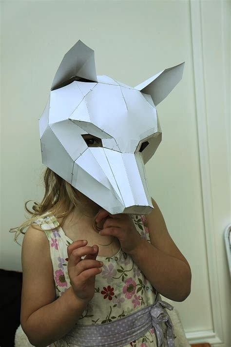 origami fox mask steven wintercroft on masks fox mask and foxes