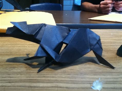 panther origami origami panther by lucymidnight96 on deviantart