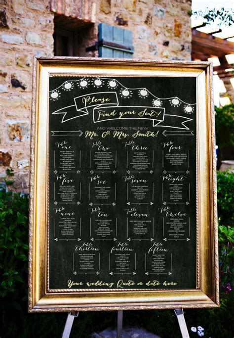 diy chalkboard table seating chart 12 perfectly organized seating charts from etsy intimate