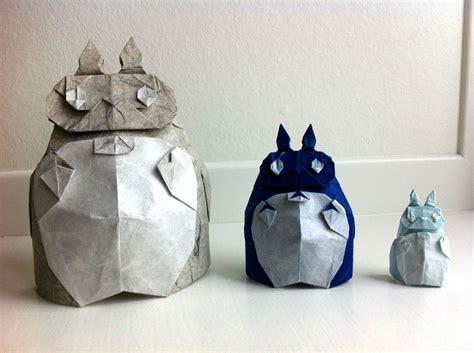 origami totoro someone made a family of origami totoro s