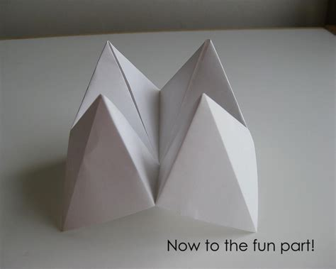 how to make origami fortune teller my handmade home tutorial origami fortune teller