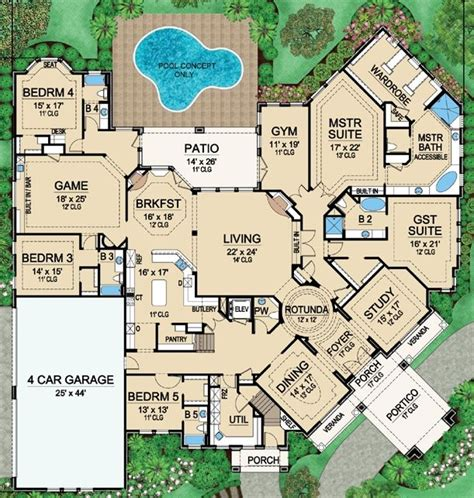 house plans with big bedrooms 25 best ideas about large house plans on