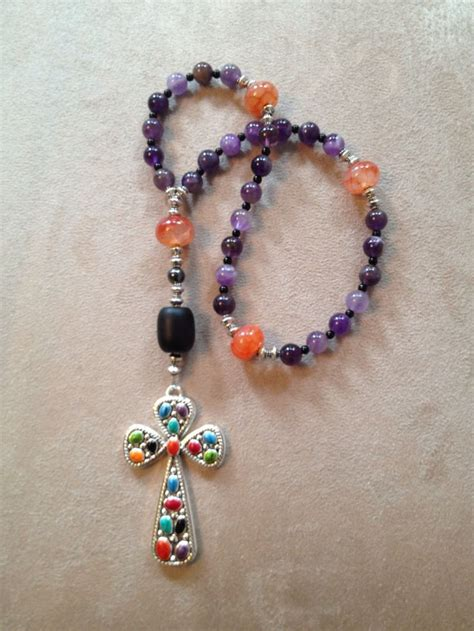 how to make protestant prayer handmade anglican protestant prayer with amethyst
