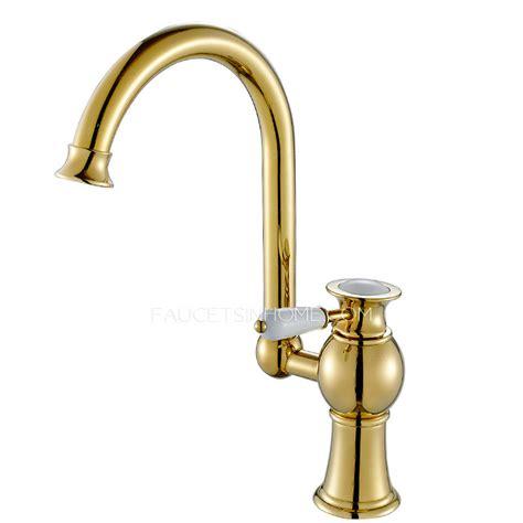 antique kitchen faucet antique polished brass radian handle kitchen faucet on sale
