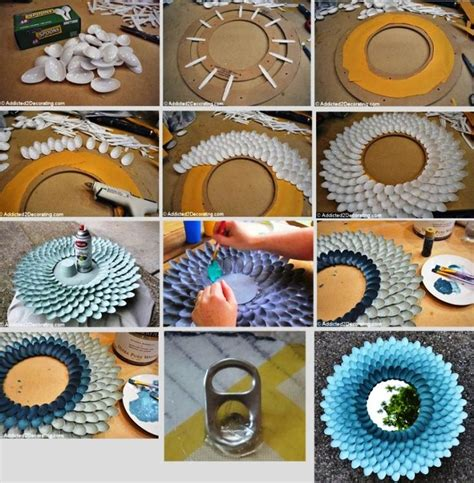 crafts dys mirror of recycle materials crafts with plastic spoons