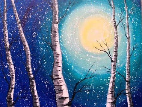 acrylic painting step by step for beginners windy moonrise step by step acrylic painting on canvas