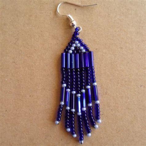 bead earrings how to make how to make bugle bead earrings with fringe via