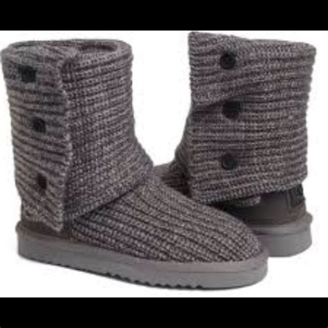 uggs grey knit boots 40 ugg boots grey knit ugg boots from nicolette s