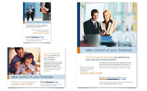 financial planning amp consulting flyer amp ad template word