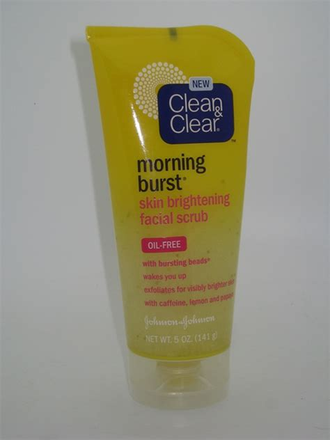 clean and clear bursting review clean clear morning burst skin brightening scrub