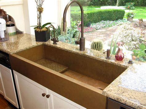 large kitchen sinks large copper apron front sink by rachiele eclectic