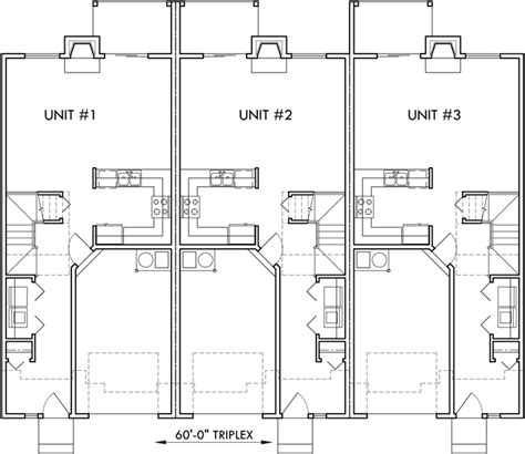 duplex row house floor plans triplex house plan townhouse with garage row house t 414