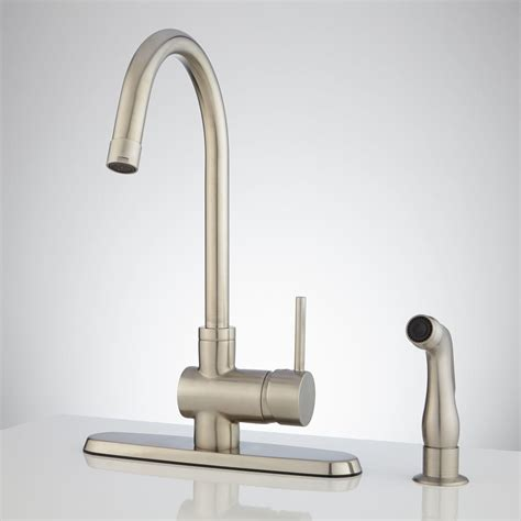 kitchen faucet side spray brass side spray faucet signaturehardware
