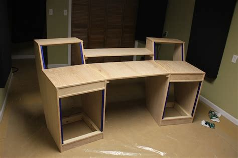 how to build studio desk my diy studio desk build gearslutz