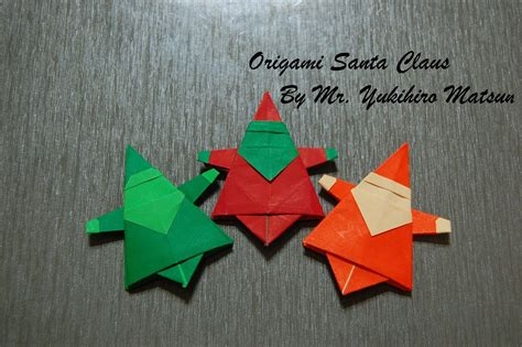 origami santa clause origami santa claus how to fold an origami