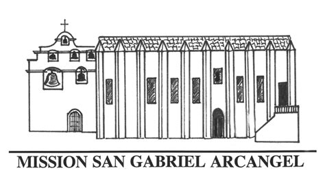 san gabriel mission floor plan black and white sketch of a church models picture